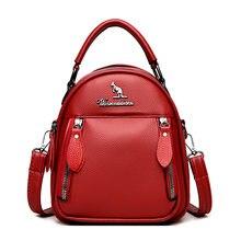 2021 многофункциональные женские кожаные рюкзаки высокое качество