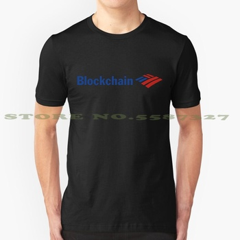 Blockchain Cool Design Trendy T-Shirt Tee Blockchain Bank Of America Parody Bitcoin Cryptocurrency Financial Tech Crypto image