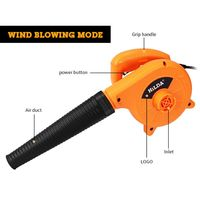 Electric Air Blower Computer Cleaner Dust Blowing Cleaning Collector 600W 200V