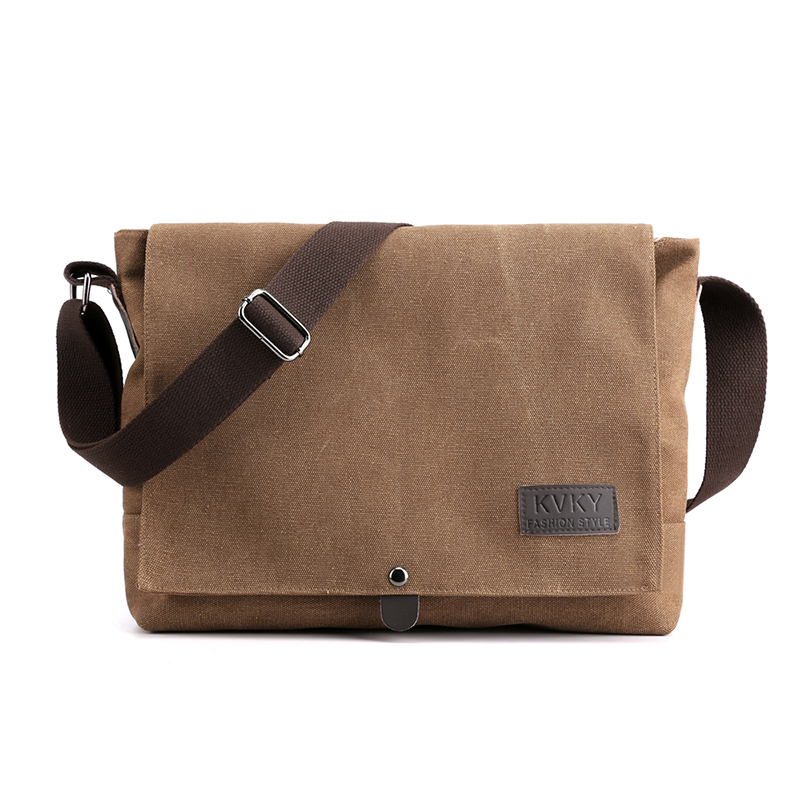 KVKY Brand Men's Shoulder Bag High Quality male Messenger Bag man canvas Travel CrossBody Satchels B