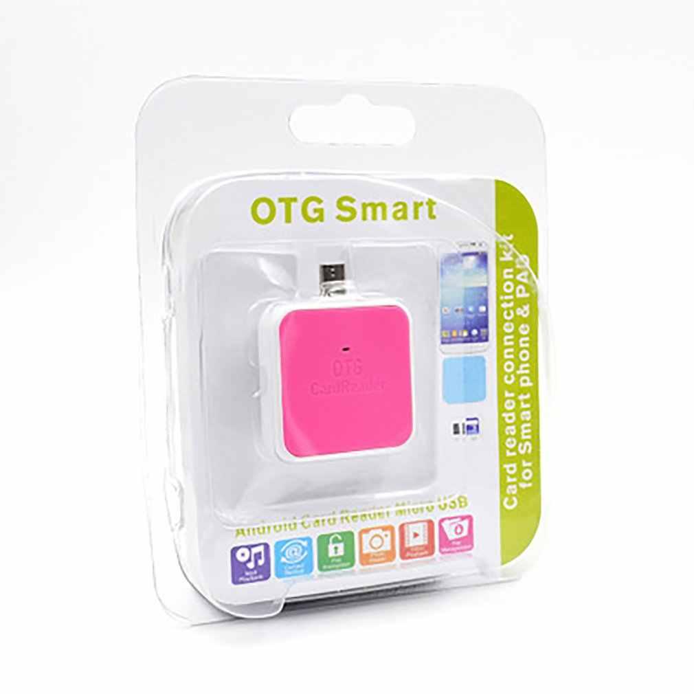 OTG czytnik kart MicroSD TF SD kompatybilny z telefonami komórkowymi i komputerami interfejs kreatywnego projektowania