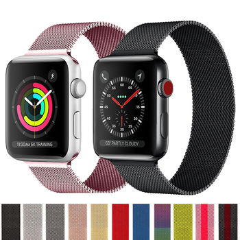 band for apple watch series 6 5 4 3 2 1 sport bracelet 42 mm 38 mm 44mm strap for apple watch iwatch band metal loop Milanese Loop Strap For Apple Watch band 42 mm 38mm iWatch series 6 SE 5 4 3 Belt bracelet correa Apple watch band 40mm 44mm