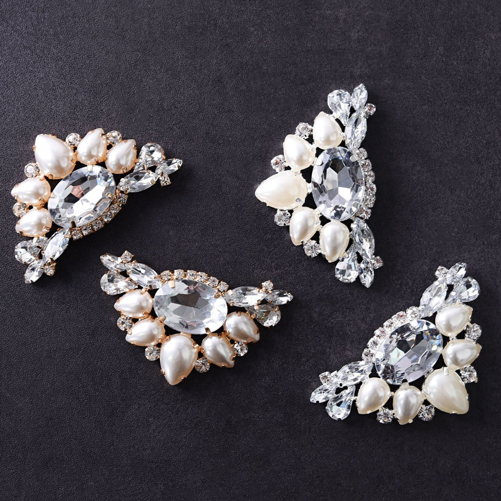 1pcs Versatile Shoe Clips Artificial Pearl Rhinestone Crystal Wedding Shoe Clips High-heel Buckle