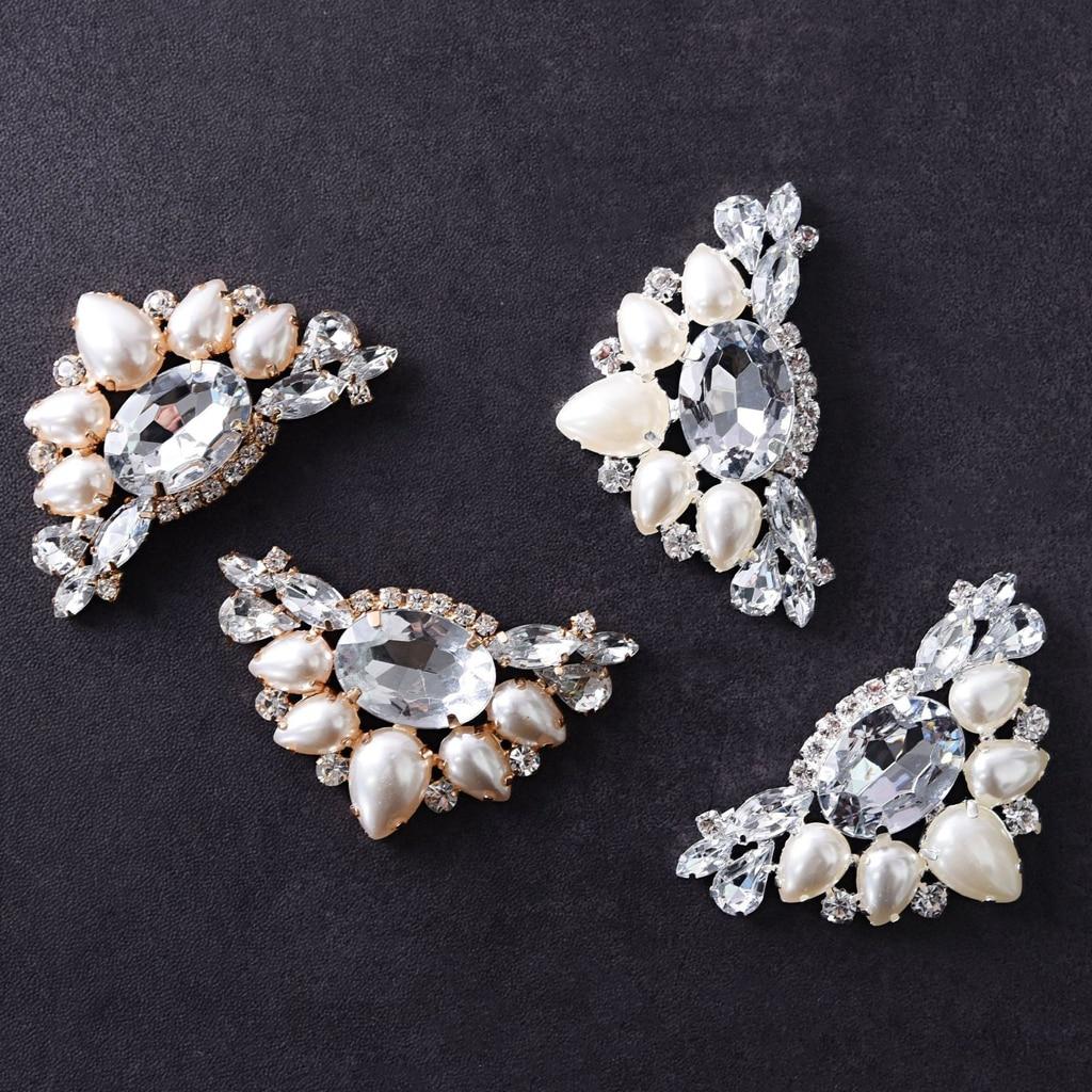 1pcs Versatile Shoe Clips Artificial Pearl Rhinestone Crystal Wedding Shoe Clips High-heel Buckle