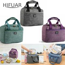 Portable Lunch Bag New Thermal Insulated Lunch Box Tote Cooler Handbag Bento Pouch Dinner Container School Food Storage Bags(China)
