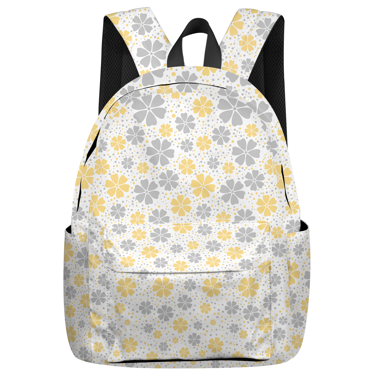 Plant Flowers And Plants Bottle Side Pockets Outdoor Activities Notebook Backpack Athletic Backpack Business Daypack Stain