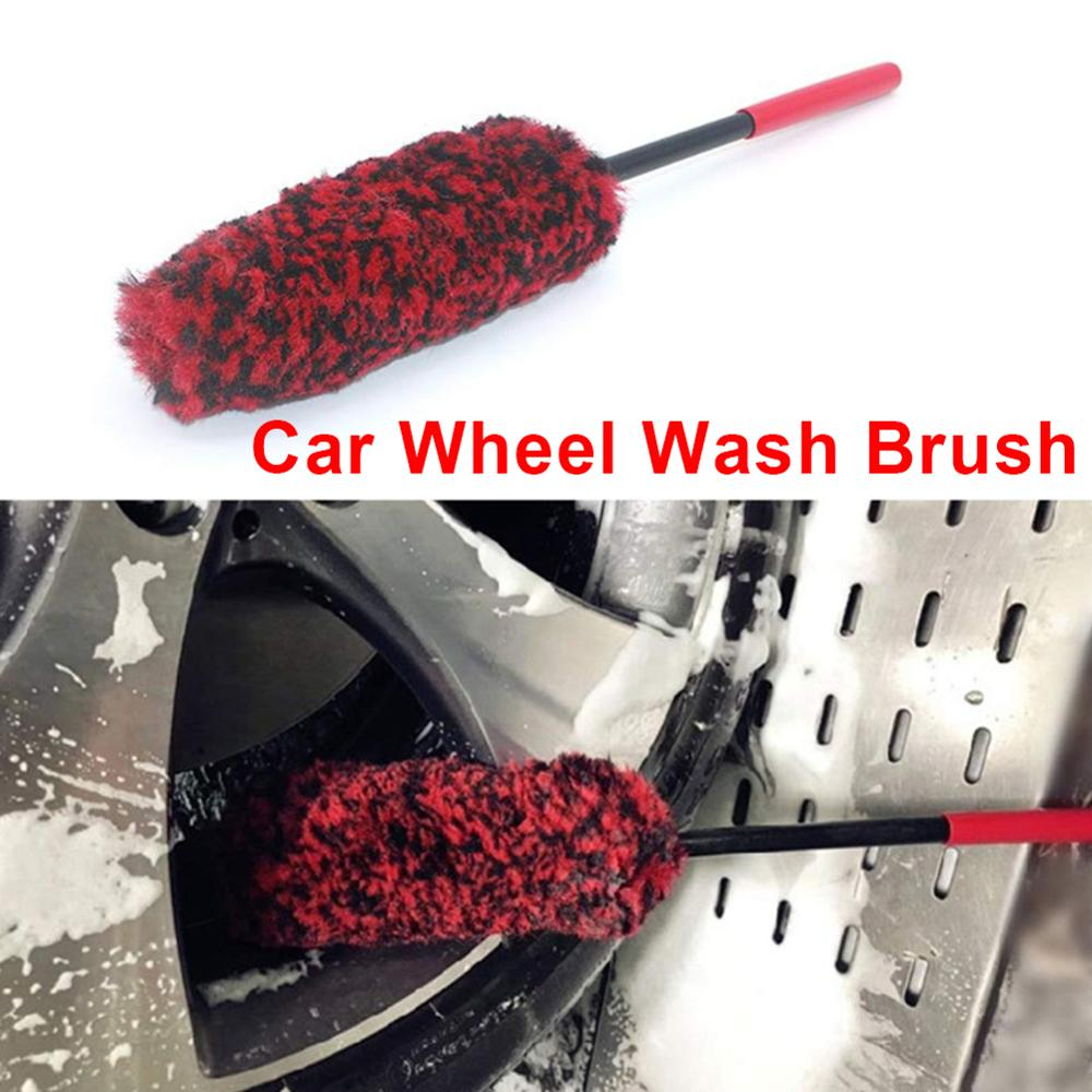Portable Car Wheel Brush Auto Wheel Wash Brush Cleaning Tools Multifunction Handle Wheel Rims Flexible Tire Washing Brush