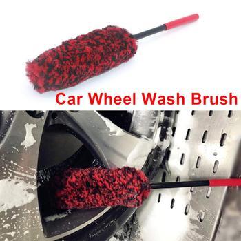 Portable Car Wheel Brush Auto Wheel Wash Brush Cleaning Tools Multifunction Handle Wheel Rims Flexible Tire Washing Brush