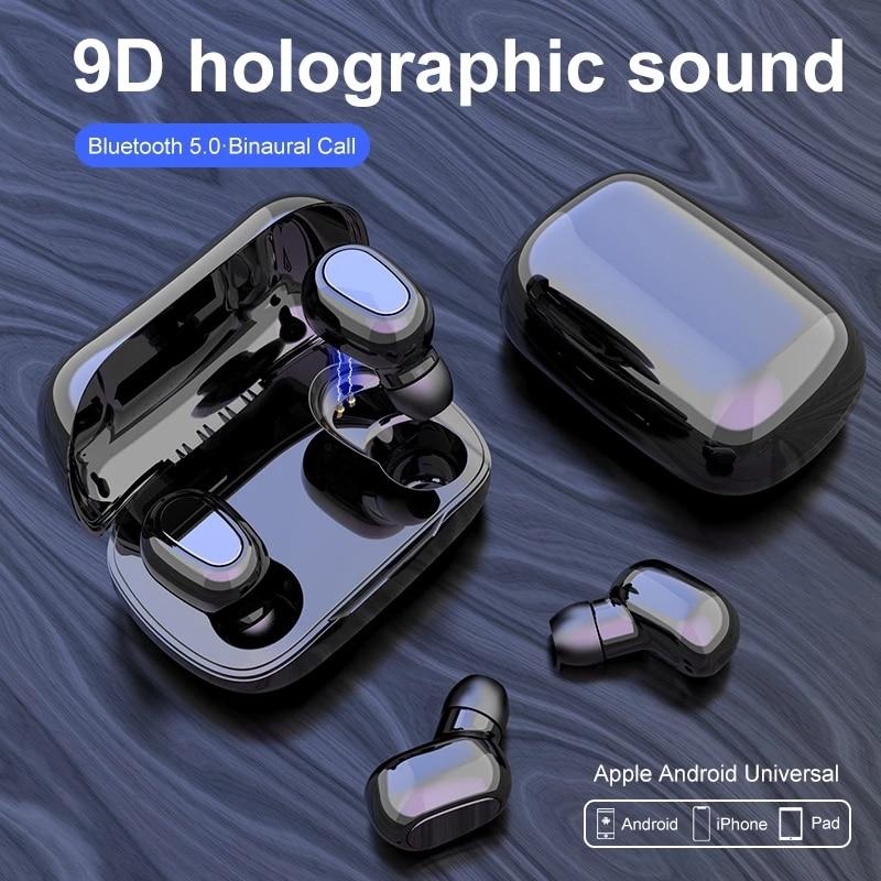 Bluetooth наушники гарнитура 5,0 наушники-вкладыши Tws с L21 Pro стерео Беспроводной наушники голографическая звук Android iOS IPX5 с защитой от пота