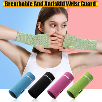 Wristband Adult 2PCS Ice Silk Cold Breathable Wristband Sports Sweat-Absorbent Non-Slip Finger Wristband #YL5