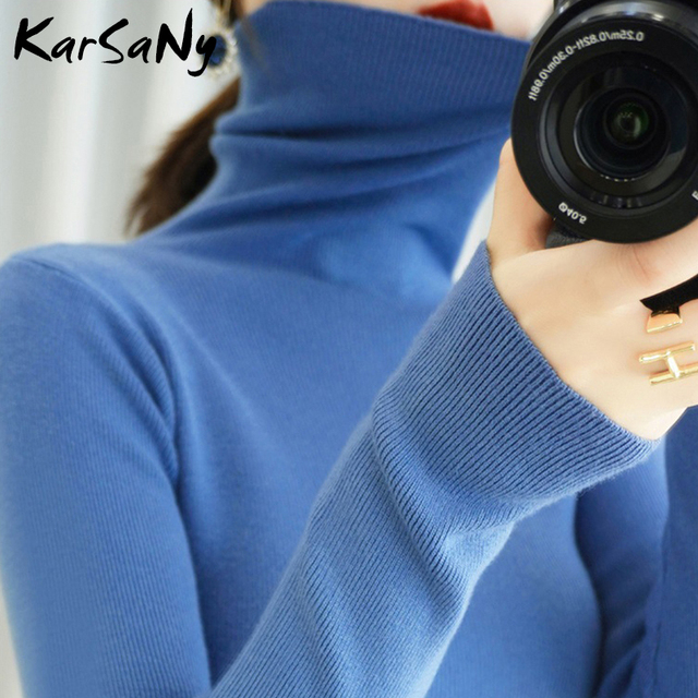 Women's Sweater Winter Clothes Women 2020 Black Turtleneck Sweaters Winter Warm Turtlenecks For Women Pullover Sweater Autumn 5