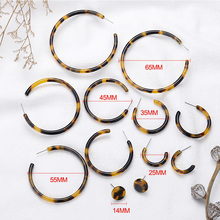 Geometric Round Hoop Earrings for Women Acrylic Tortoiseshell Boho Vintage Jewelry Earings Fashion Brincos