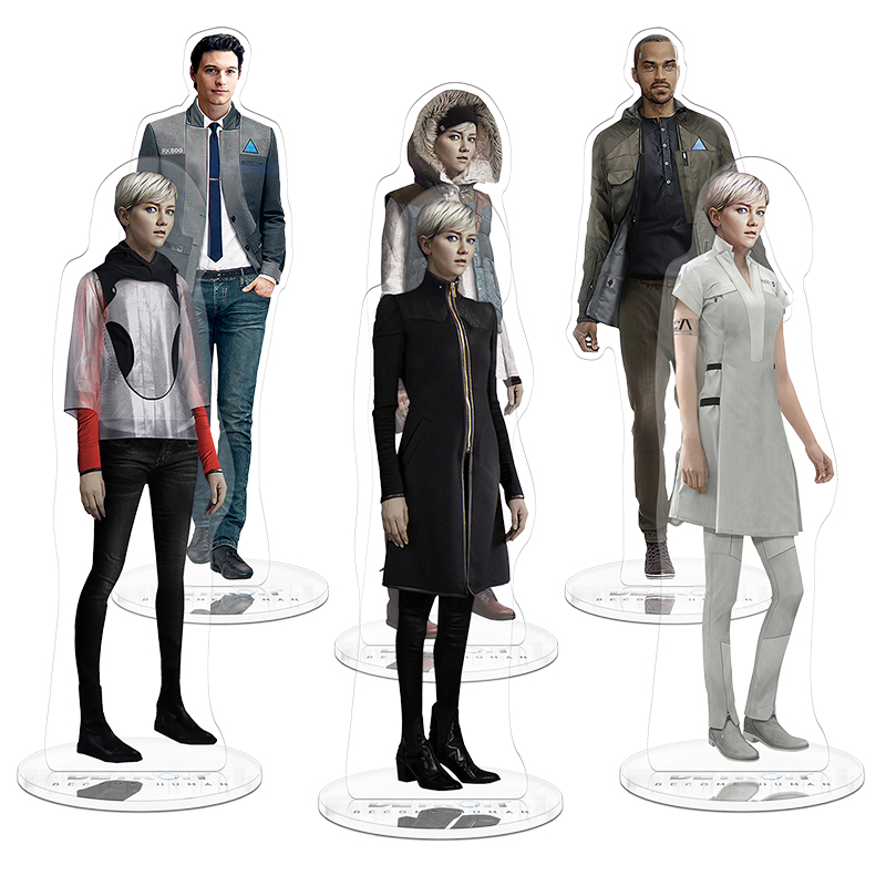21cm Detroit Become Human Character Stand Toy Acrylic Double Side Action Figure Collection Toys