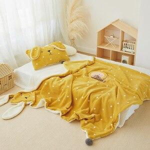 2 шт кораллового флиса шерпа одеяло для детской кровати одеяло пододеяльник для кровати Флисовое одеяло подушка набор зимний динозавр крол...