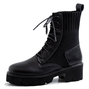 Image 4 - FEDONAS New Winter Warm Women Knee High Boots Night Club Shoes Woman Genuine Leather Knitting Long Boots Fashion Riding Boots