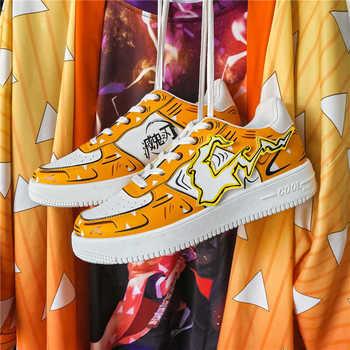 Men Sneakers 2020 New Breathable Lace Up Men Cartoon Shoes Fashion Casual No-slip Men Vulcanize Shoes Tenis Masculino
