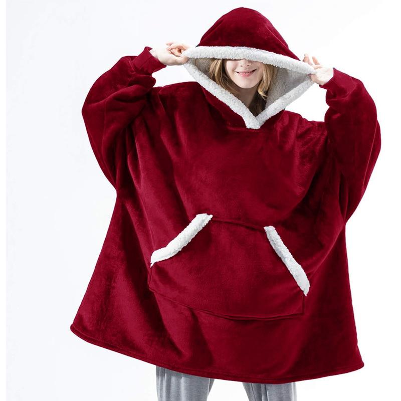 Winter-Hoodie-Women-Hooded-Blanket-Sweatshirt-Fleece-Plush-Hoodie-Warm-Coral-Fleece-TV-Blanket-with-Sleeve. (1)