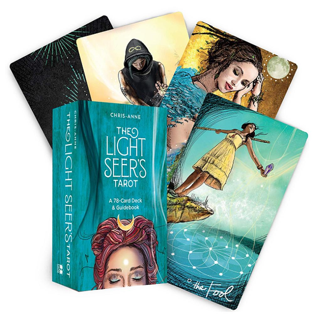 78Pcs Light Seer's Tarot Cards Board Games English Edition Mysterious Family Party Card Tarot Deck Table Game Oracle Divination
