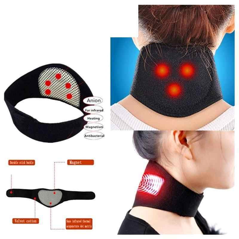 Magnetic Therapy Neck Massager Self-heating Neck Massage Pain Relieve Neck Warmer Guard Chinese Medical Massagers Belt