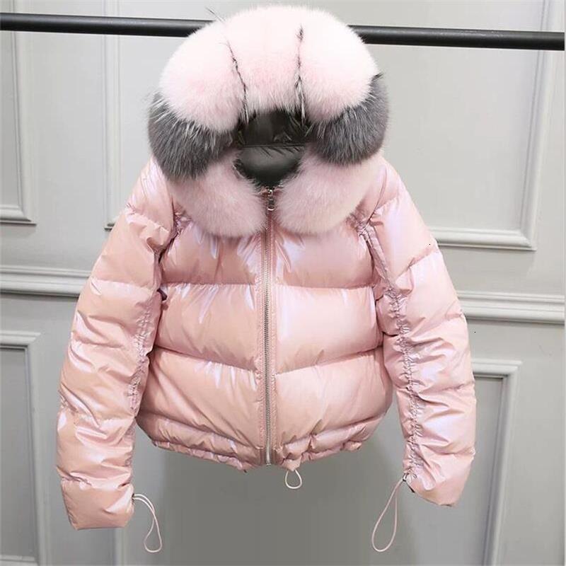 Женская куртка из натурального Лисьего меха, новинка 2019, зимняя куртка, женская теплая парка, натуральный мех, белый утиный пух, пуховик, водонепроницаемое пальто - 4