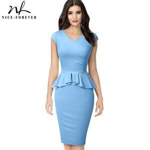 Image 3 - Nice pour toujours, tenue de soirée élégante, moulante, couleur unie, pour le bureau, pour femmes, B580