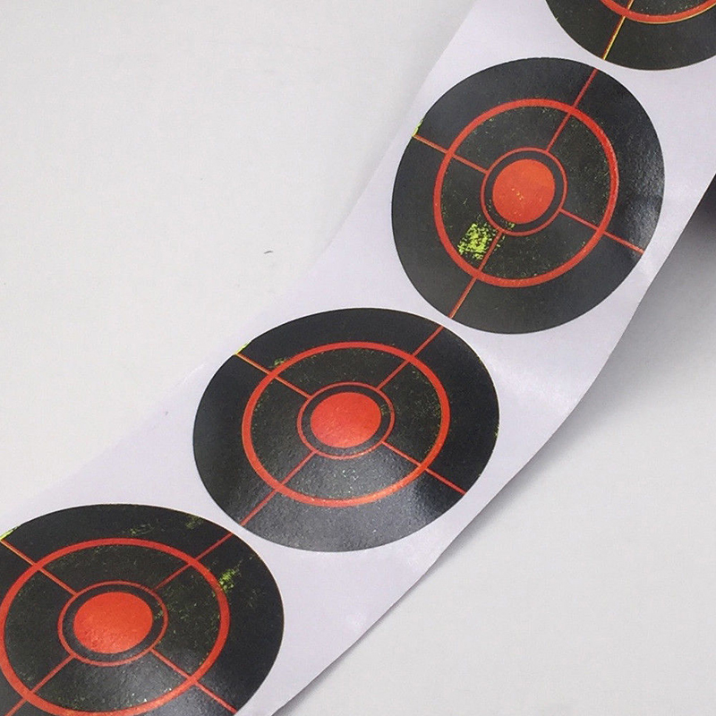 250Pcs/Roll Target Shooting Stickers Splatter Archery 7.5cm Indoors/outdoor