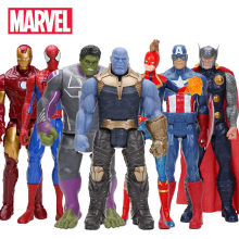 Marvelของเล่นAvenger Endgame 30ซม.Super Hero Thor Hulk Thanos Wolverine Spider Man Iron Man Action Figure Toyตุ๊กตา(China)