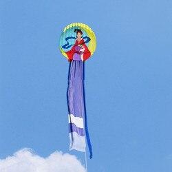 Darmowa wysyłka wysokiej jakości 12m fairy moon miękki latawiec z uchwytem linii łatwej kontroli ripstop tkaniny nylonowej latawca latające dekoracji zabawy w Latawce i akcesoria od Zabawki i hobby na