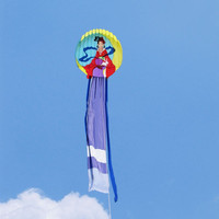free shippinghigh quality 12m moon fairy soft kite with handle line easy control ripstop nylon fabric kite flying decoration fun