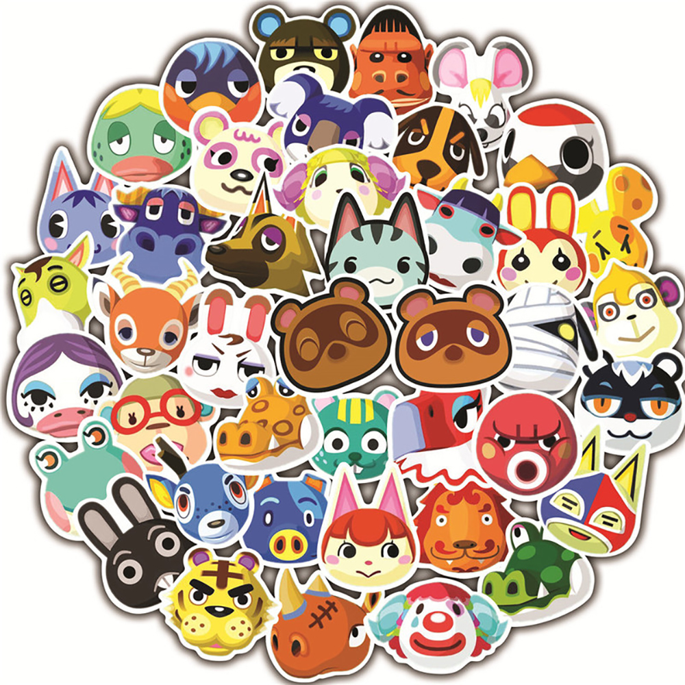 50PCS Animal Crossing Game Graffiti Stickers DIY Motorcycle Luggage Guitar Skateboard Cool Stickers Classic Toy Gift For Kid