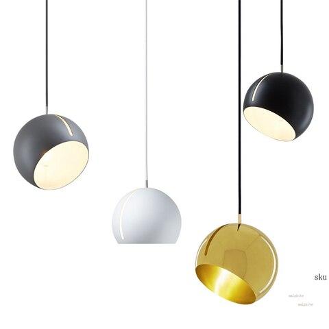 hemisferio rotativo nordico luzes pingente moderno restaurante pendurado led luminaria de iluminacao quarto estudo em