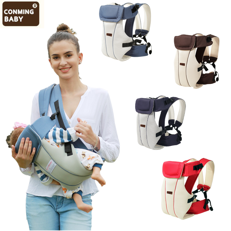 Ergonomic Baby Carriers Backpacks 0-30 Months Portable Baby Sling Wrap Cotton Infant Newborn Baby Kangaroo Carrying Belt