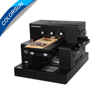 Colorsun Automatic A2850 A3 UV Flatbed Printer with bottle holder for Phone case Cylinder UV printer for glass acrylic metal