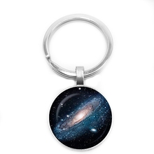 цена 2019 Hardship Hot Retro Spiral Nebula Cosmic Pattern Windmill Galaxy Keychain Universe Jewelry Art Print Keychain онлайн в 2017 году