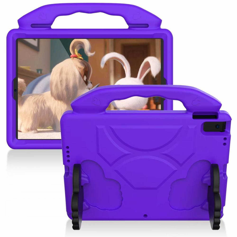 purple Purple Thumb Kids Friendly Safety Cover For iPad 10 2 2019 7th Generation A2200 A2198 A2232 Case