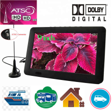 LEADSTAR 9 inch Portable TV  With ATSC Tdt Digital Tv Analog Mini Tv For Car Boat Outdoor  Support USB TF PVR MP4 H.265 AC3