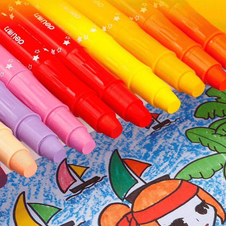 Sharkbang 12/24/36/48 Color Water-soluble Wax Crayon Soft Oil Pastel Painting Chalk Pastels Art Drawing Set Kids Gift Stationery