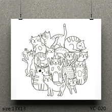 ZhuoAng Stray cat Clear Stamps For DIY Scrapbooking/Card Making Decorative Silicon Stamp Crafts