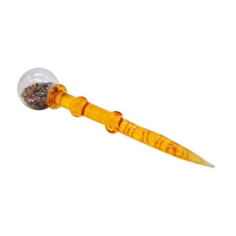 134mm kuvars Carb cam nargile için temizleme çubuğu su borusu petrol turuncu renk ısıya dayanıklı şişe kapağı kalın cam sigara aracı
