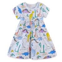 Meninas vestidos de princesa padrão animal algodão do bebê meninas vestido festa da criança roupas 2020 novo verão crianças túnica