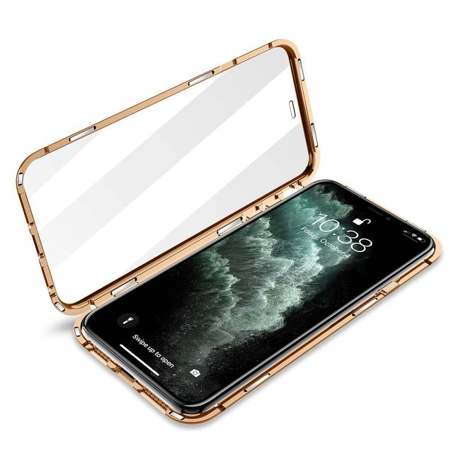 Magnetic Protective Case For IPhone 12 11 Pro XS MAX XR X 8 7 Plus With Double-Sided Tempered Glass Metal Frame Phone Cover 2