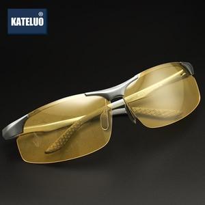KATELUO 2020 антибликовые очки дневного и ночного видения желтые очки для вождения мужские фотохромные солнцезащитные очки поляризованные линз...