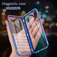Funda magnética de Metal para teléfono Huawei, protector de cristal doble para Honor 30 Pro Plus, 30s, 20, 20i, 10, 9x, 8X, V30 View