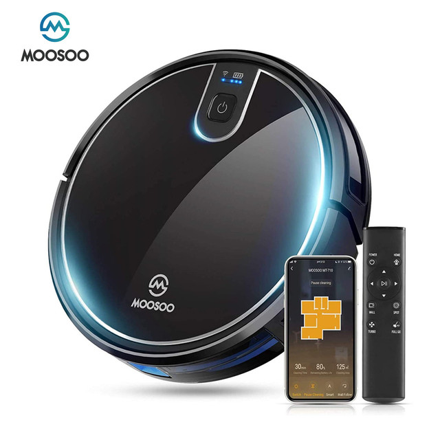 MT-710 Wi-Fi Robot Vacuum Cleaner 1800PA Suction Smart Memory Smart Life App Control Self-Charging Robotic Vacuum 1