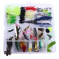 100 pçs kit isca conjunto spinner minnow macio duro colher manivela iscas ganchos de pesca alicate|Iscas artificiais| |  -