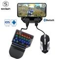 Контроллер для Pubg, контроллер для мобильных телефонов под управлением Android, Bluetooth 5,0, с клавиатурой и мышью, конвертер для IOS, iPad на ПК