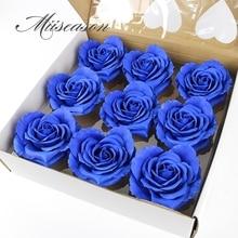9pcs Diameter 10cm Goedkope Zeep Hart vorm Rose Heads Wedding Valentijnsdag Gift Bruidsboeket Home Decor hand Bloem Art