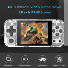 POWKIDDY Q90 Retro Handheld Game Player 3.0 inch IPS Screen 16GB Dual Open Source System Portable Pocket Mini Video Game Console