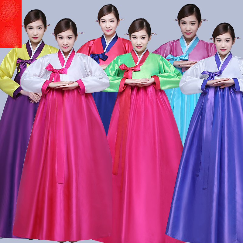 Hanbok Female Traditional Korean Dance Costumes Performance Costume For Women Palace Korea Dress Chorus Stage Costumes SL1522