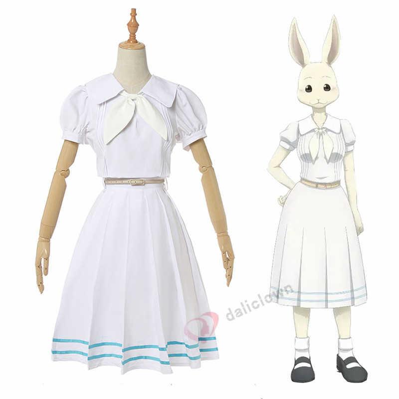 Anime BEASTARS Cosplay Costume Parrucca Legoshi Haru Uniforme Della Scuola Vestito Uomini Donne di Età Lupo Coniglio di Halloween Costume Di Natale